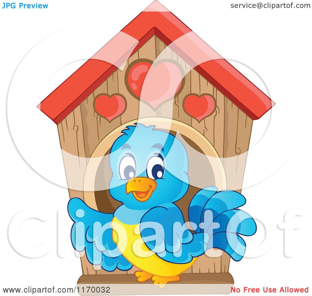 Bluebird Bird House Clip Art – Cliparts
