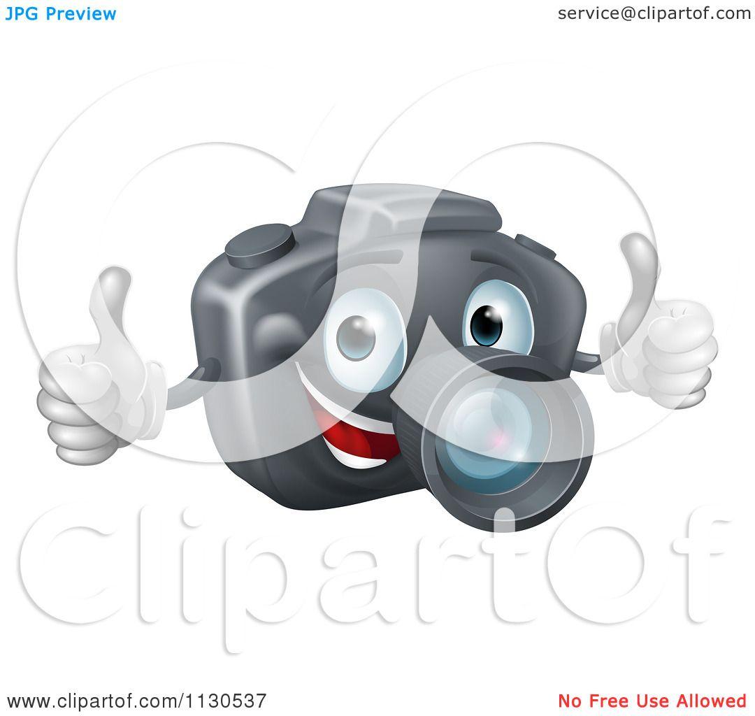 Camera Dslr Camera Cartoon cartoon of a happy dslr camera mascot holding two thumbs up royalty free vector clipart by atstockillustration