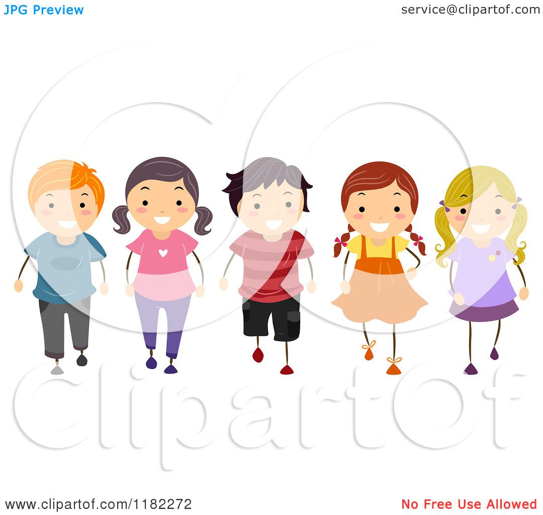 Black and white designs clipart clipart kid - Cartoon Of A Happy Group Of Erse Children Walking