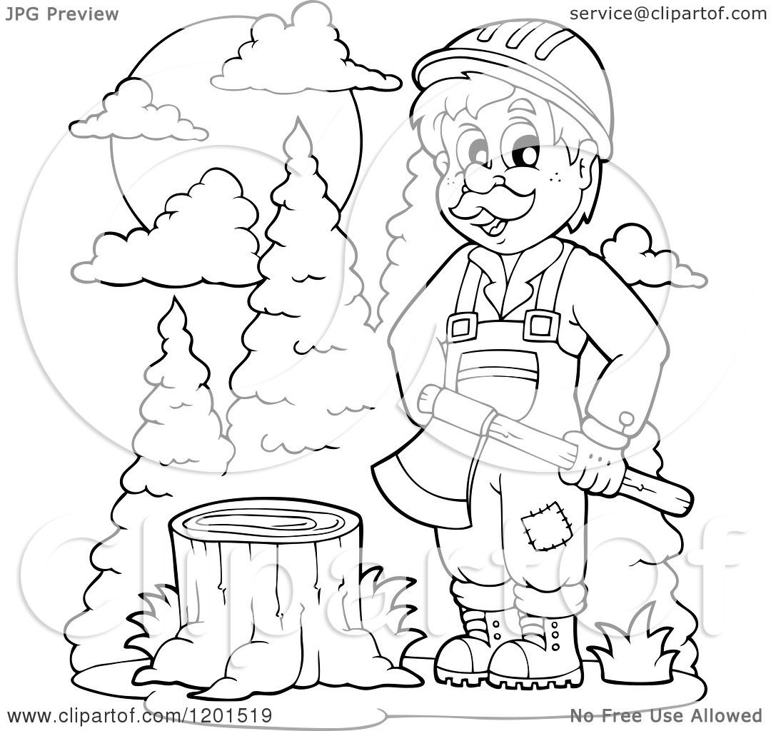 lumberjacks coloring pages - photo#13