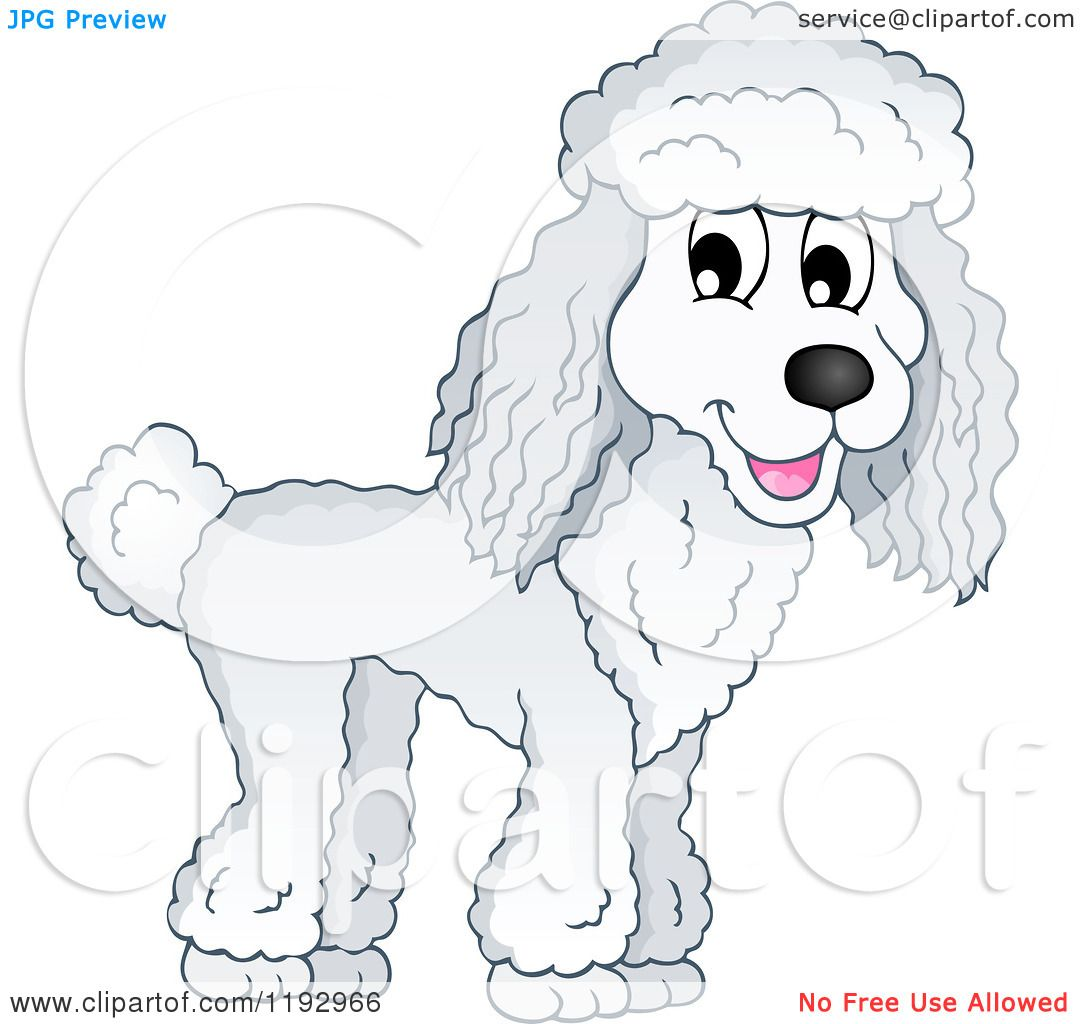 Free rf poodle clipart illustration 215241 by bnp design studio - Cartoon Of A Happy Poodle Dog Royalty Free Vector Clipart By Visekart