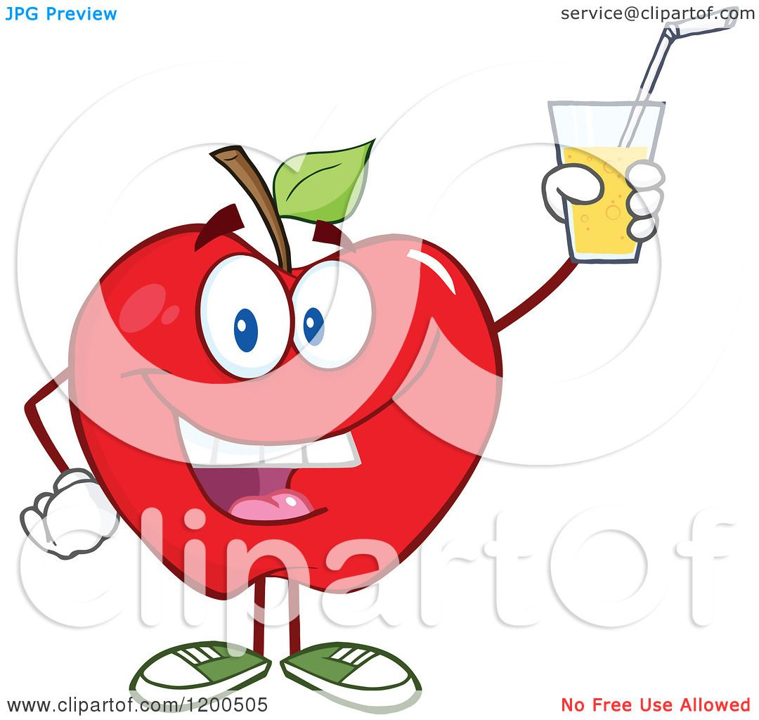 cartoon of a happy red apple holding up a glass of juice apple cider clipart free apple cider clip art tags