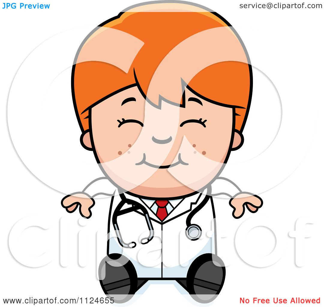 http://images.clipartof.com/Cartoon-Of-A-Happy-Red-Haired-Doctor-Or-Veterinarian-Boy-Sitting-Royalty-Free-Vector-Clipart-10241124655.jpg Girl