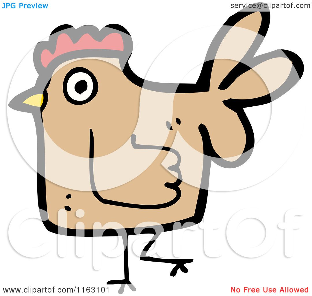 cartoon of a hen chicken royalty free vector illustration by