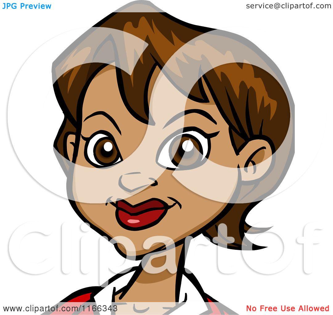 Cartoon Of A Hispanic Woman Avatar Royalty Free Vector