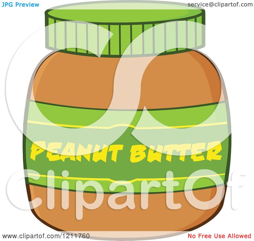Cartoon of a Jar of Peanut Butter - Royalty Free Vector ...
