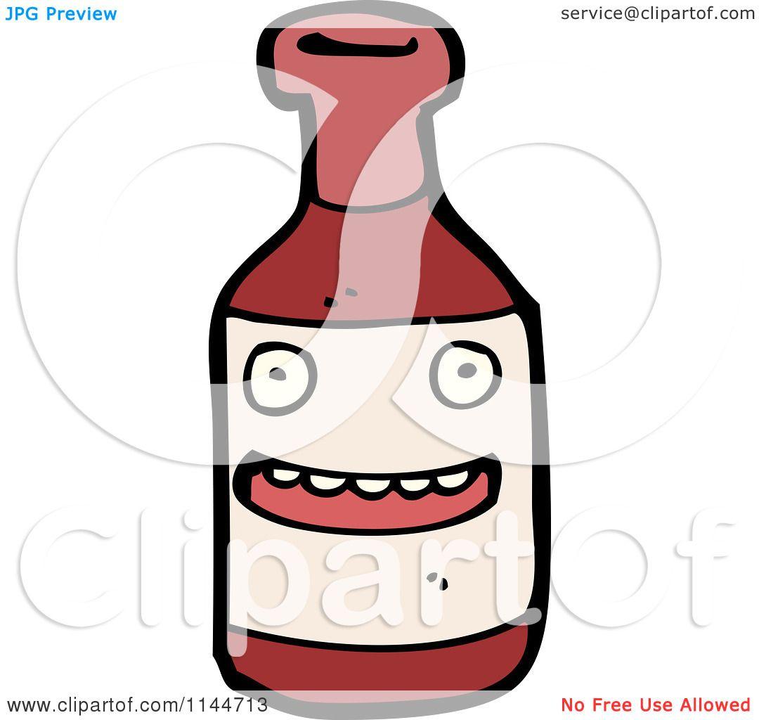 Cartoon Soda Bottle Cartoon of a ketchup bottle