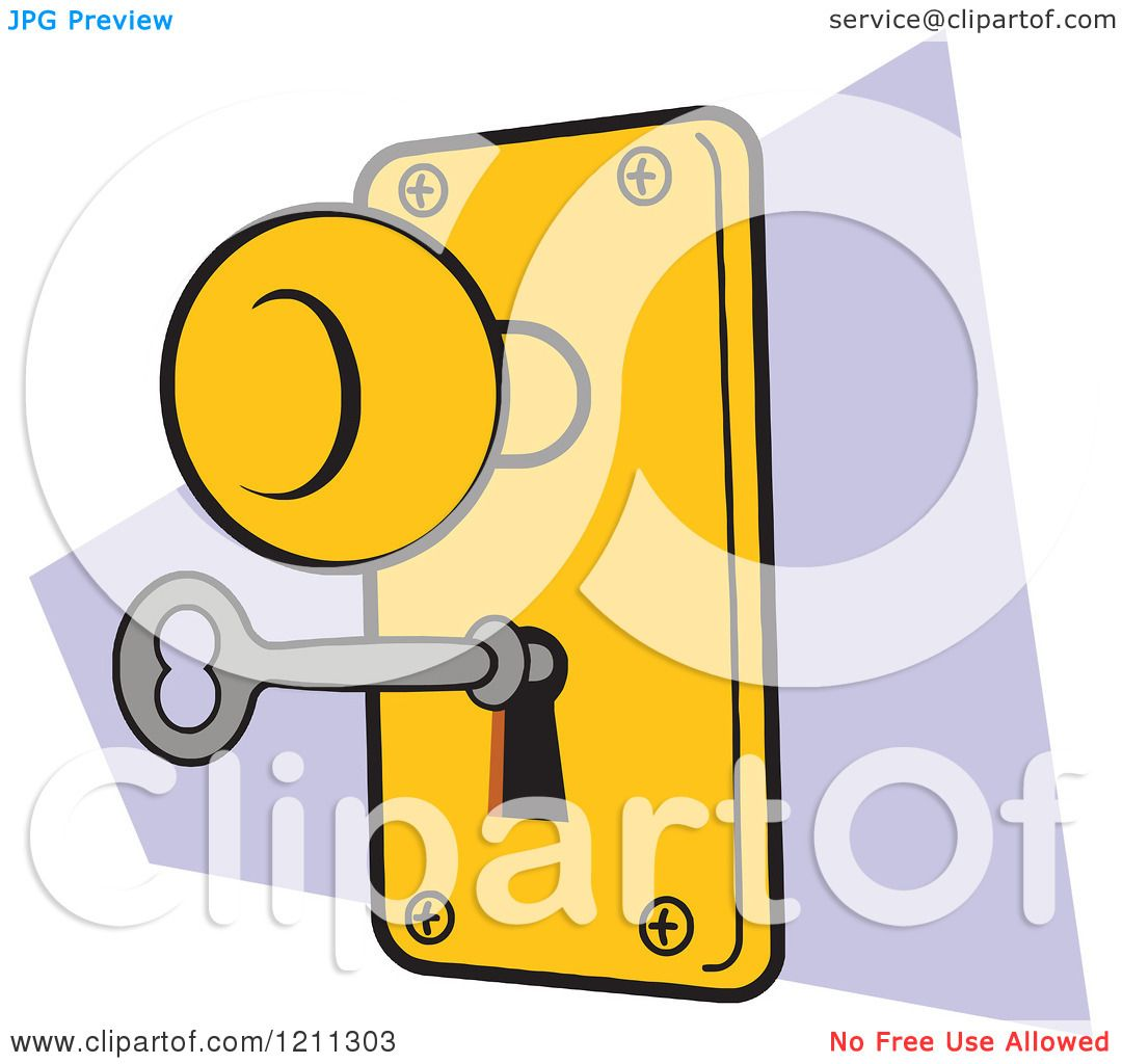 Cartoon of a Lock and Key - Royalty Free Vector Clipart by ...
