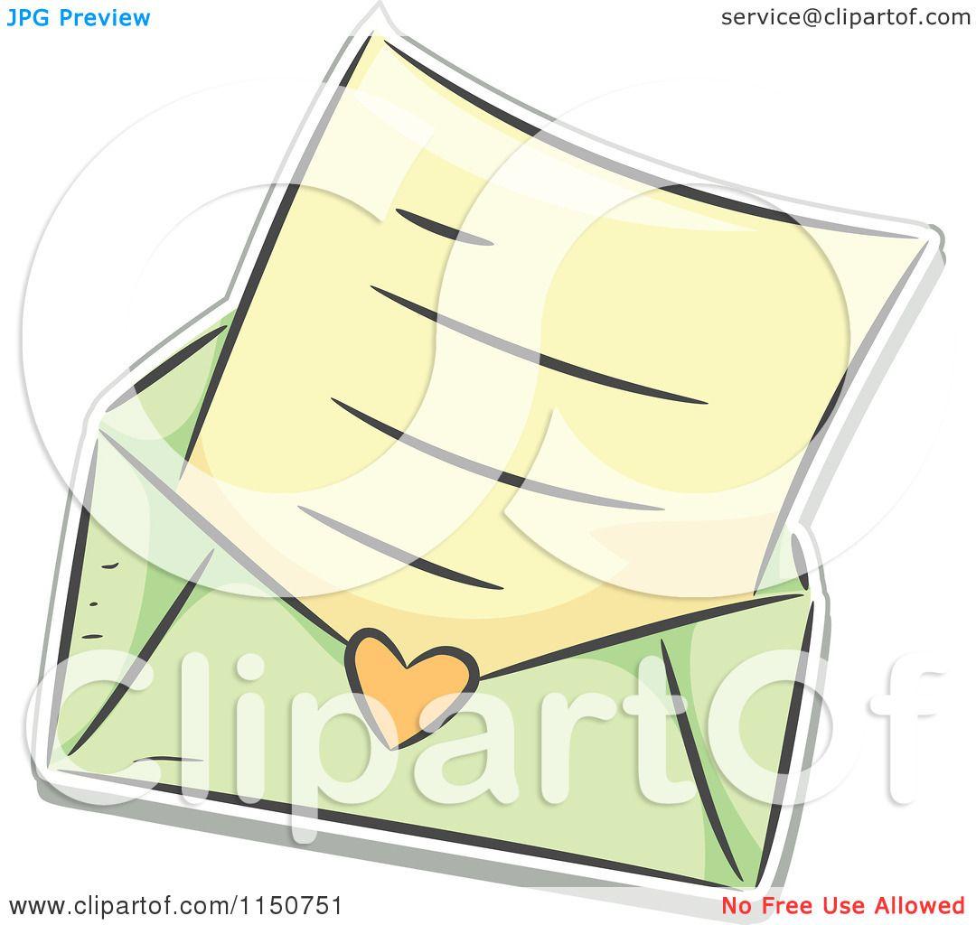 cartoon of a love letter and green envelope royalty free vector clipart by bnp design studio Casper Ghost Clip Art Manilla Envelope Clip Art