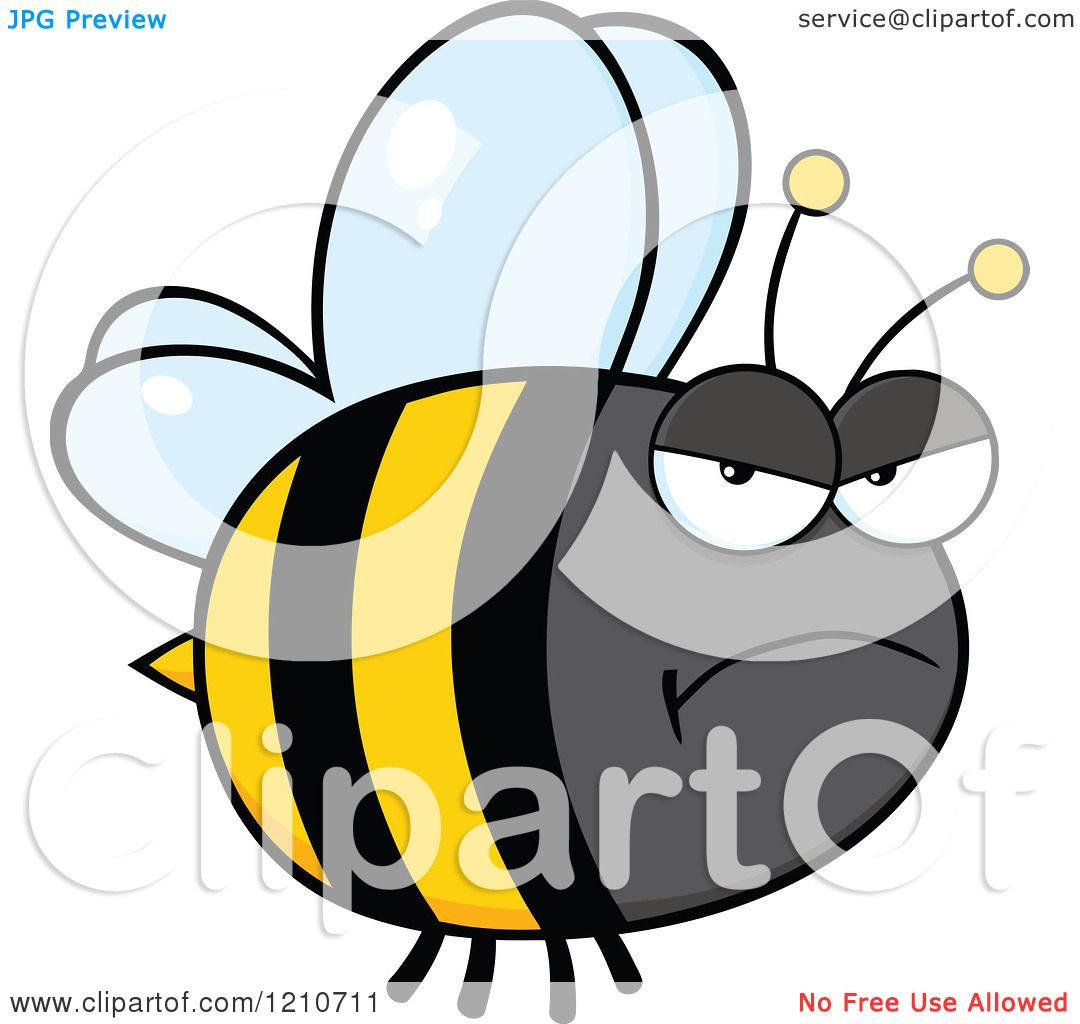 Cartoon of a Mad Bumble Bee - Royalty Free Vector Clipart ...