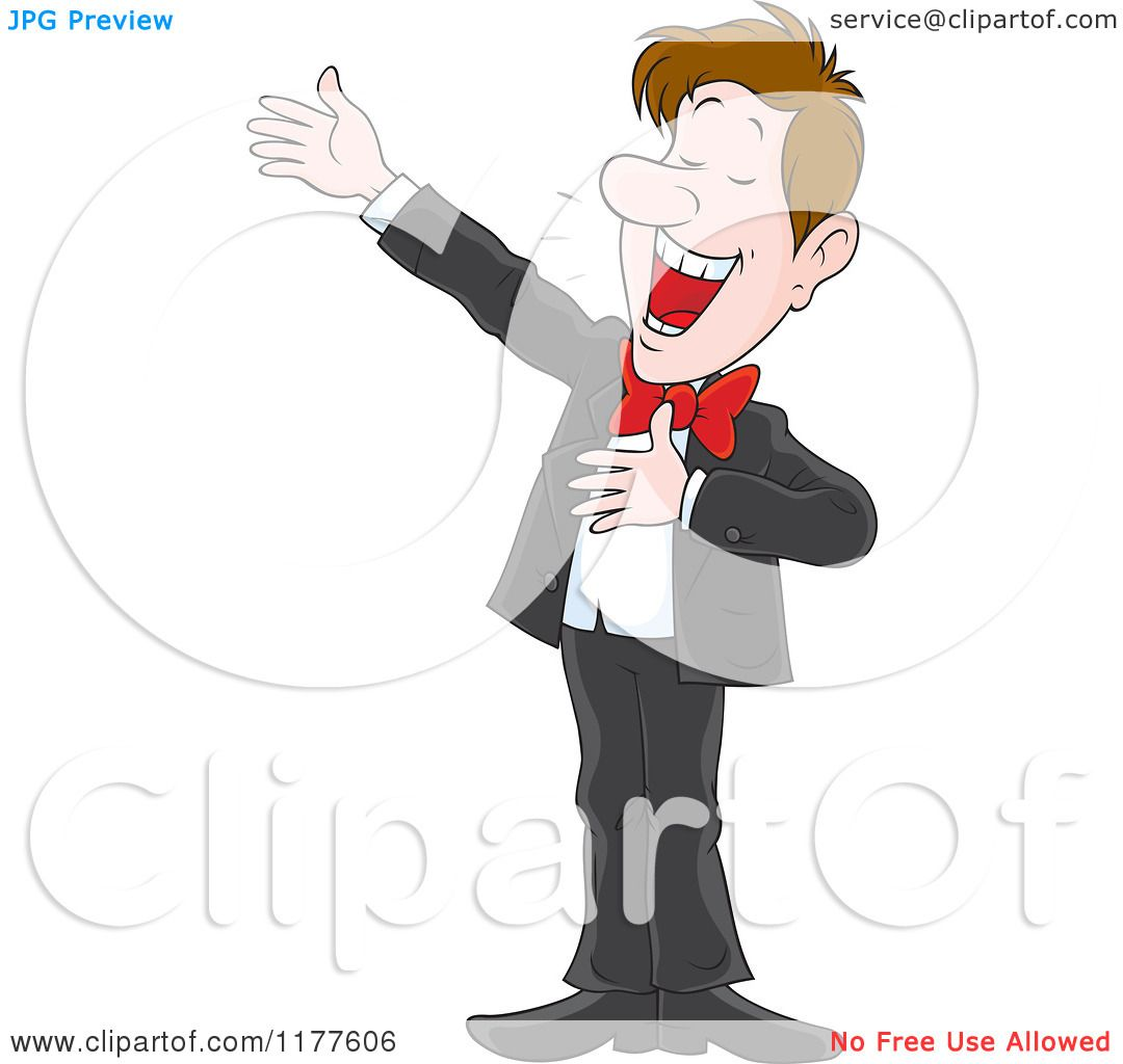Cartoon of a Male Opera Singer Performing - Royalty Free ...