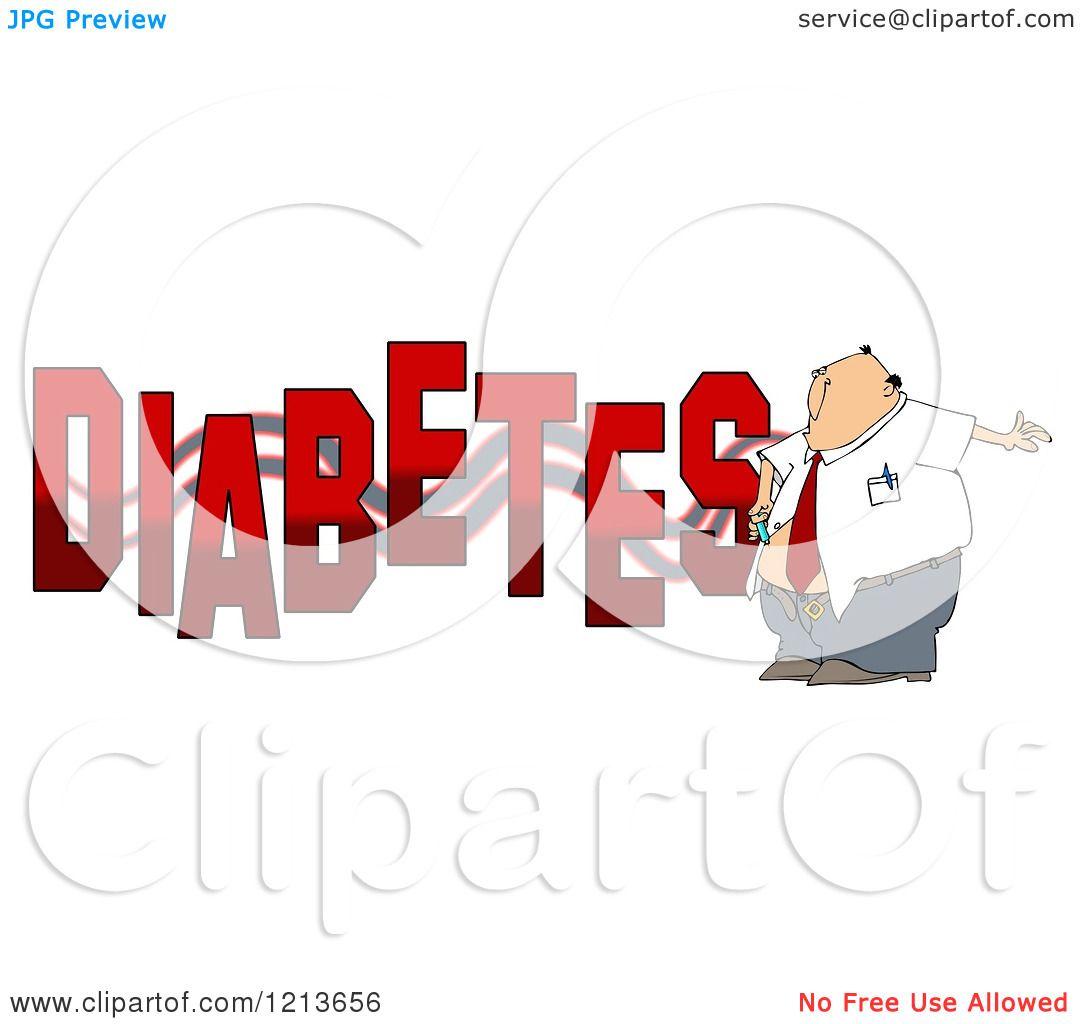 Cartoon Of A Man Giving Himself An Insulin Shot By The
