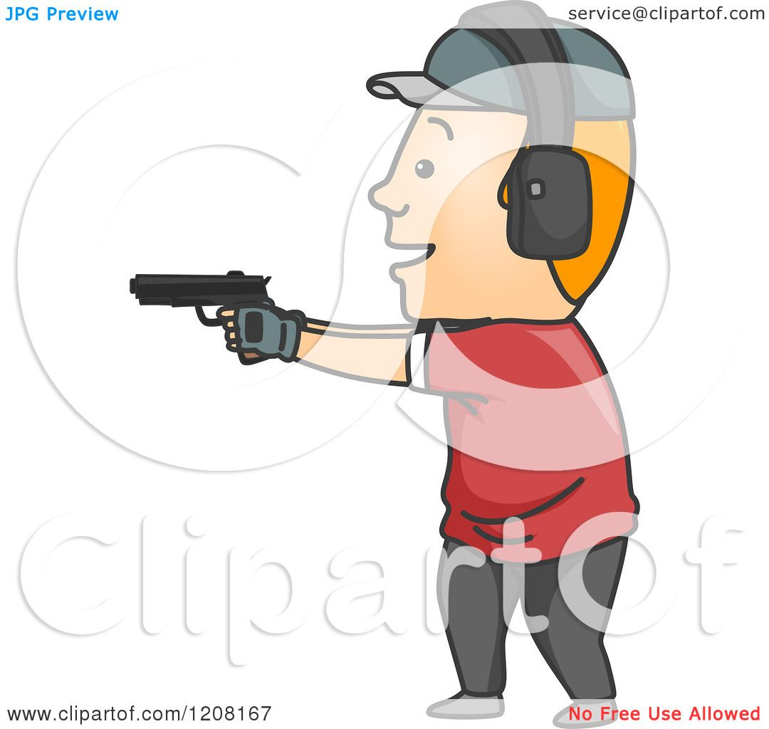 Cartoon Of A Man Target Shooting