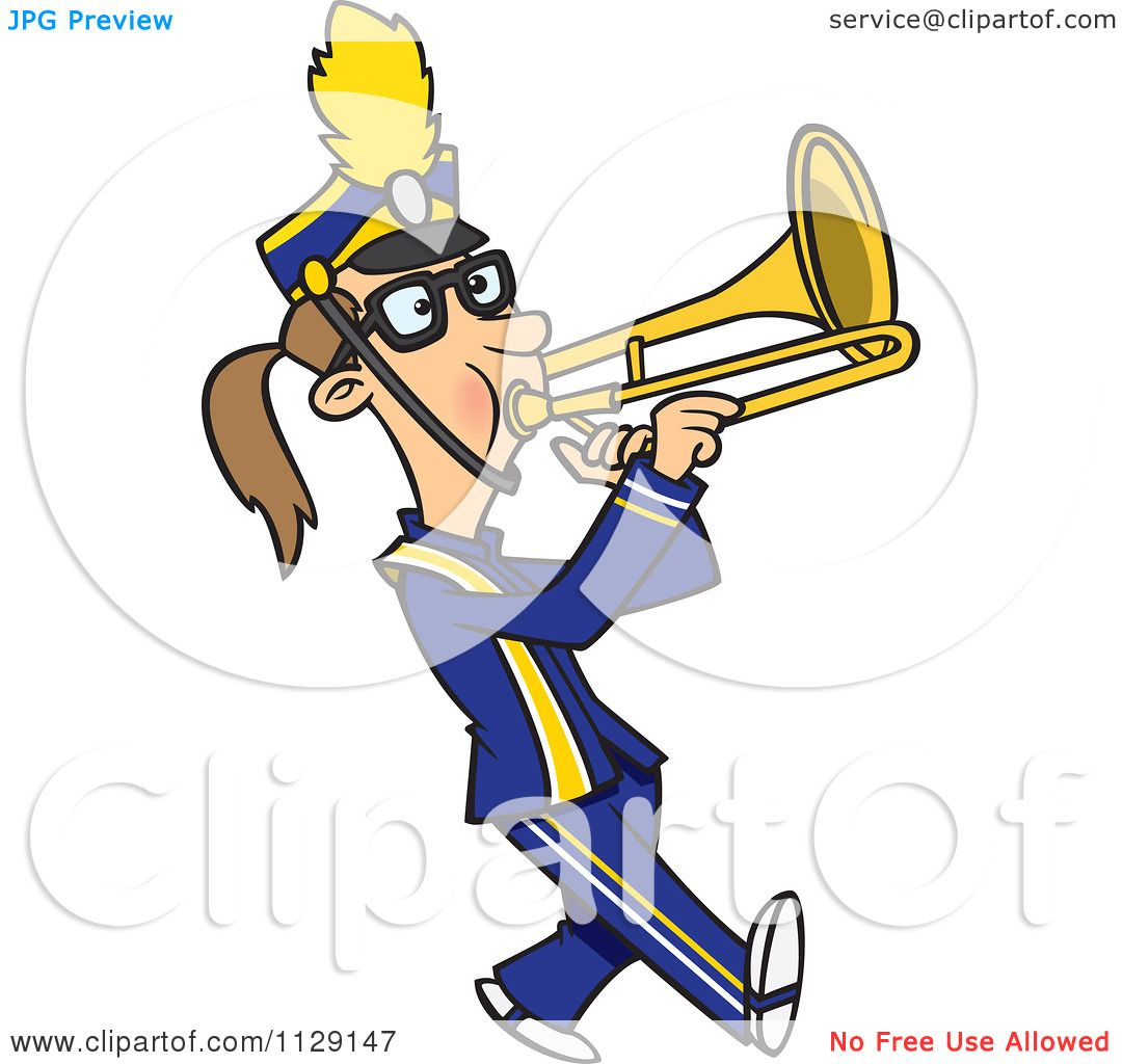 Cartoon Marching Band Cartoon of a Marching Band