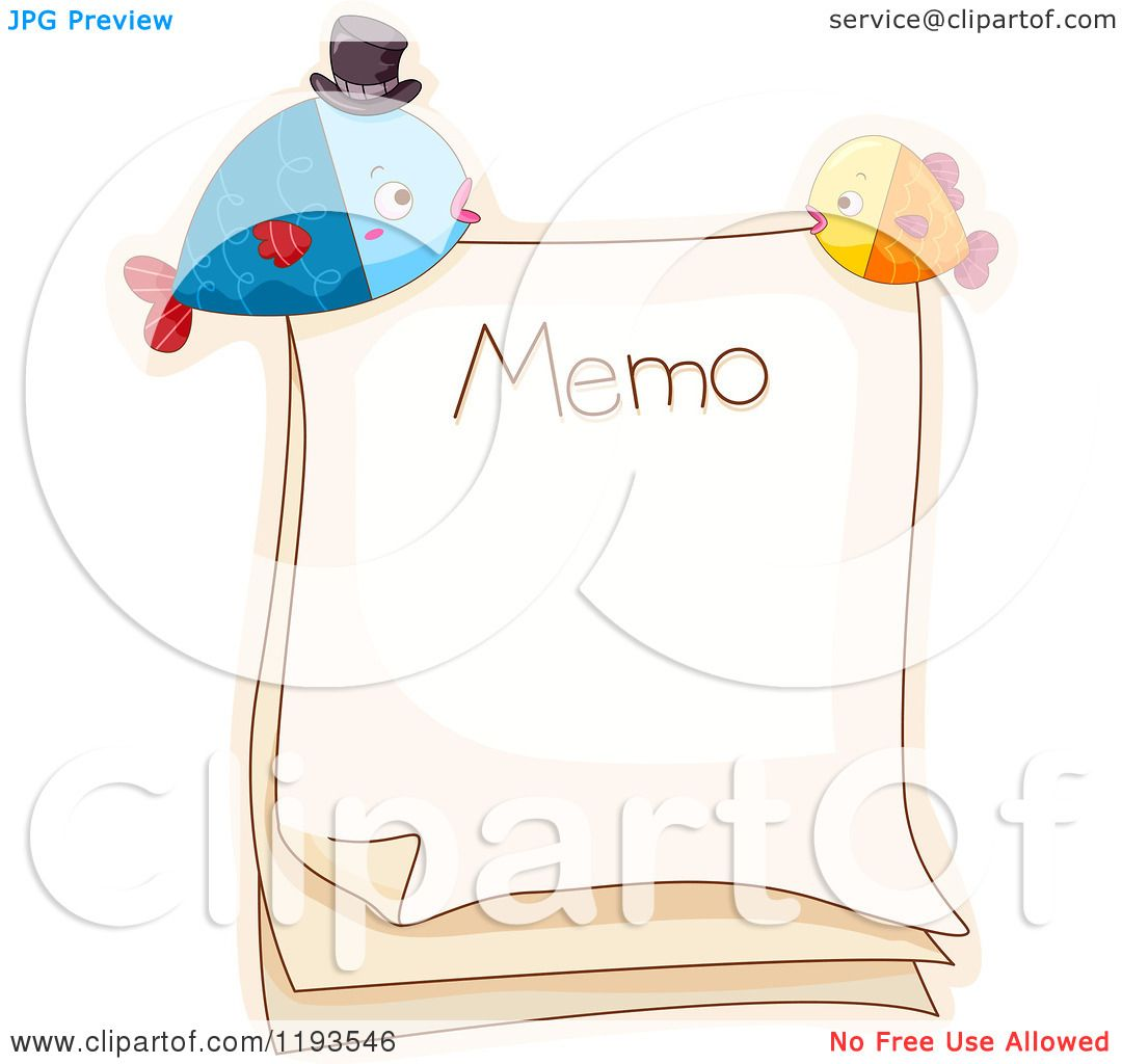 cartoon of a memo page fish magnets royalty vector cartoon of a memo page fish magnets royalty vector clipart by bnp design studio
