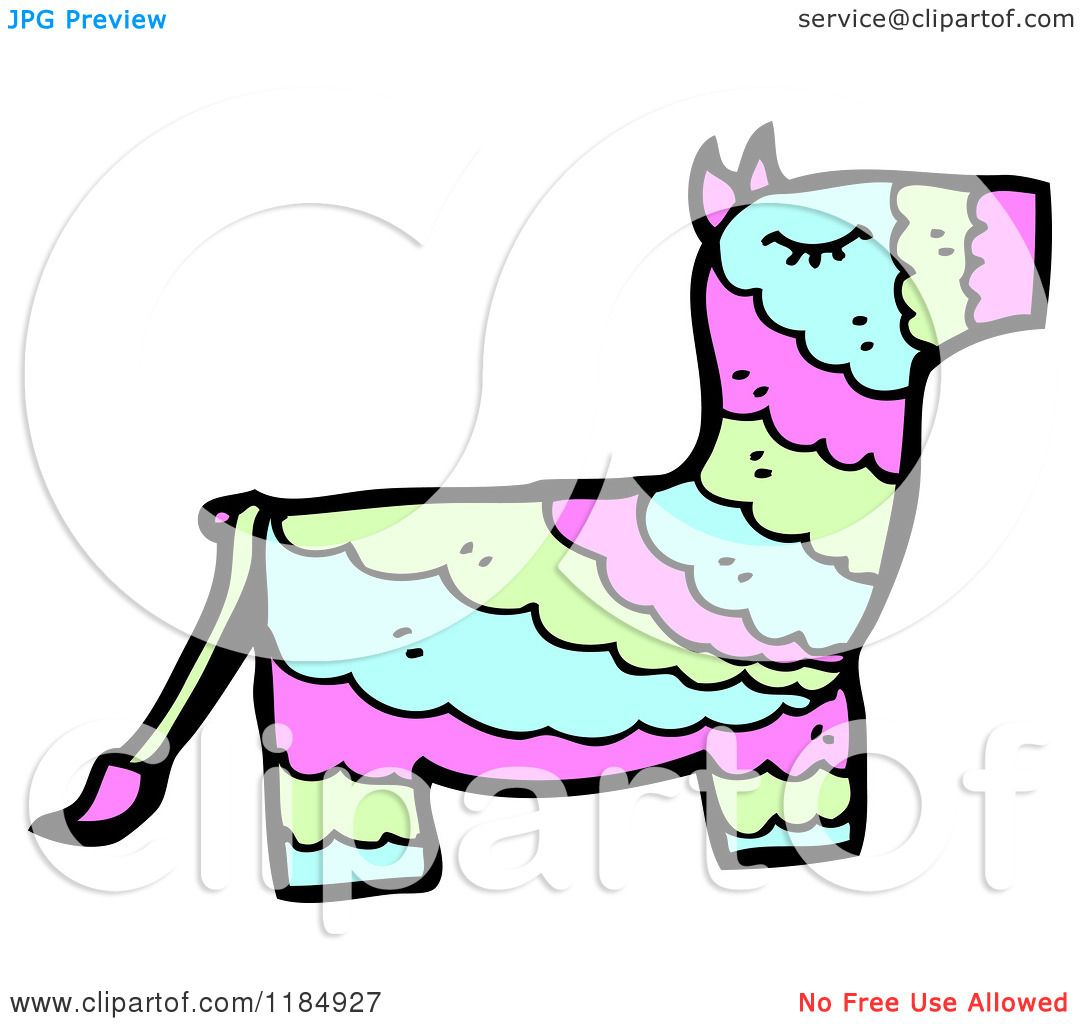 cartoon of a mexican donkey pinata royalty free vector