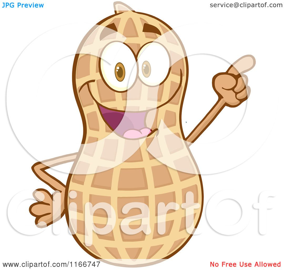 Cartoon of a Peanut Character Pointing - Royalty Free ...