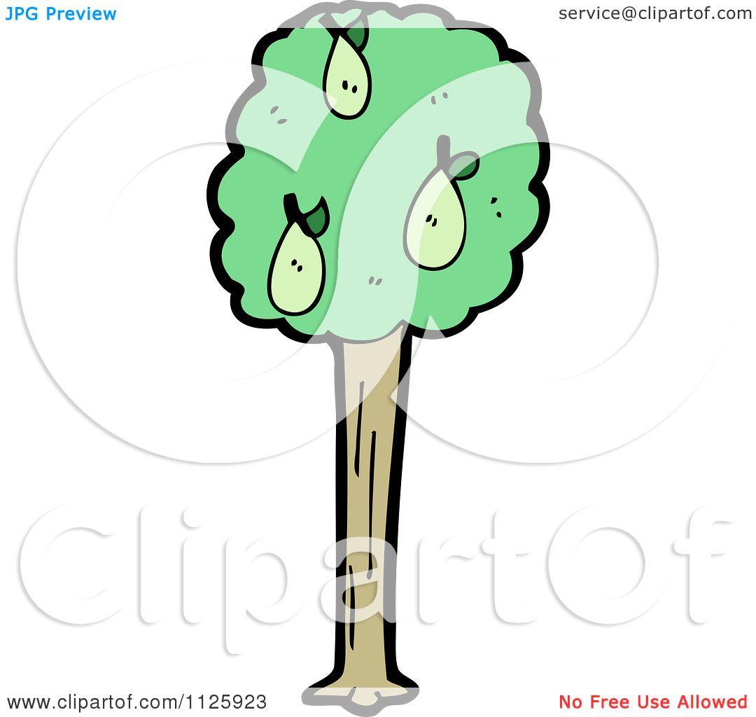 Pear Tree Cartoon Cartoon of a Pear Tree
