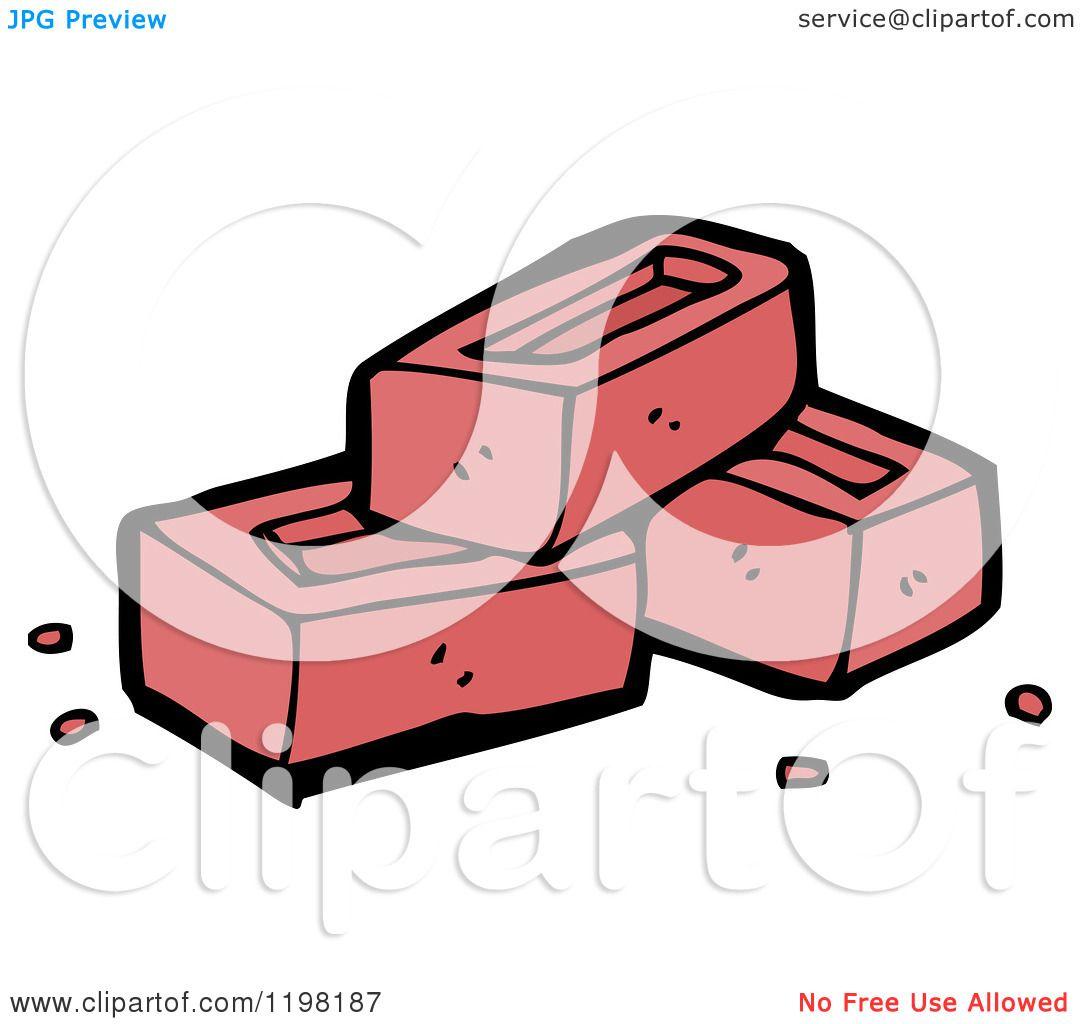 Cartoon Of A Pile Bricks
