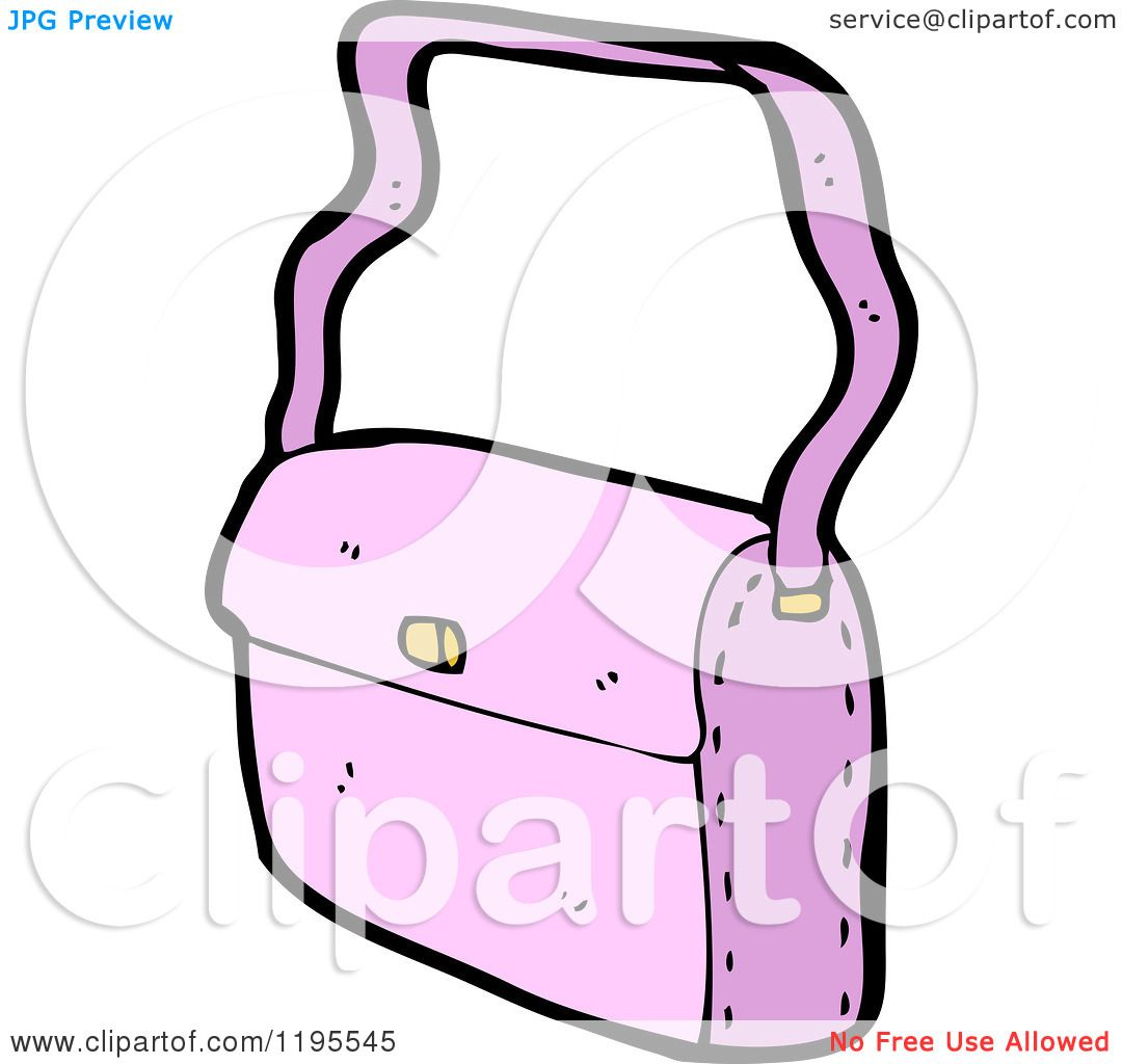 Pink Purse Cartoon Cartoon of a Pink Purse