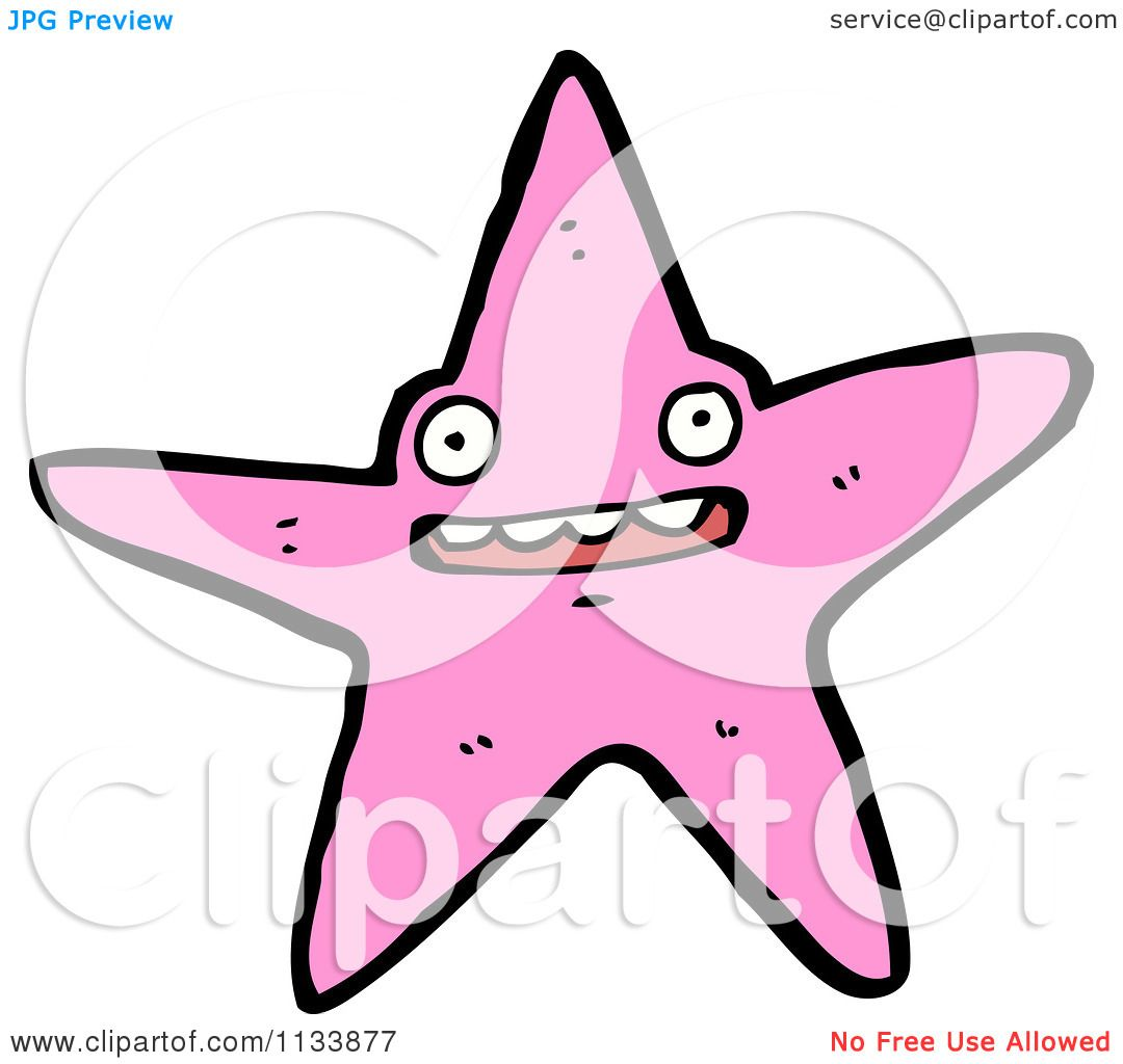 Cartoon Of A Pink Starfish - Royalty Free Vector Clipart by ... for Pink Starfish Clipart  192sfw