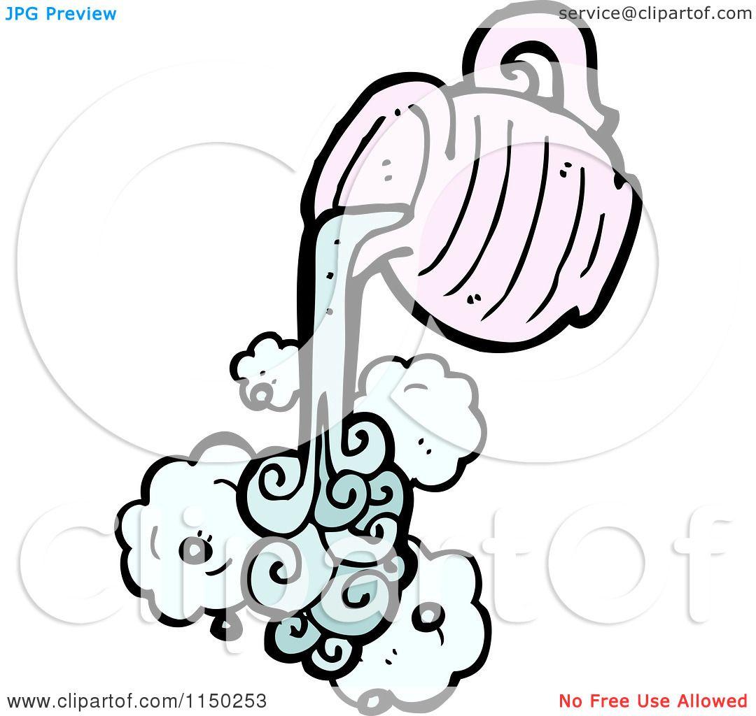 Cartoon Of A Pouring Aquarius Water Jug Royalty Free