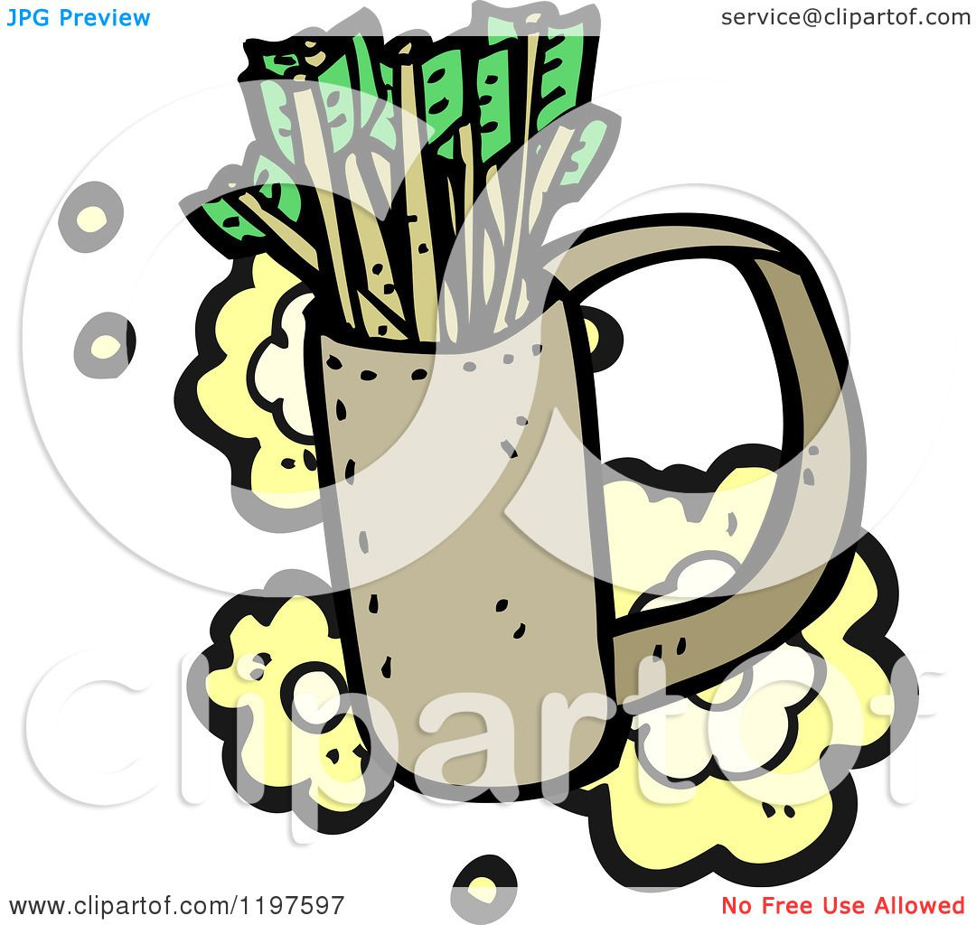 Coloring pages for quiver - Cartoon Of A Quiver Of Arrows Royalty Free Vector Illustration By Lineartestpilot
