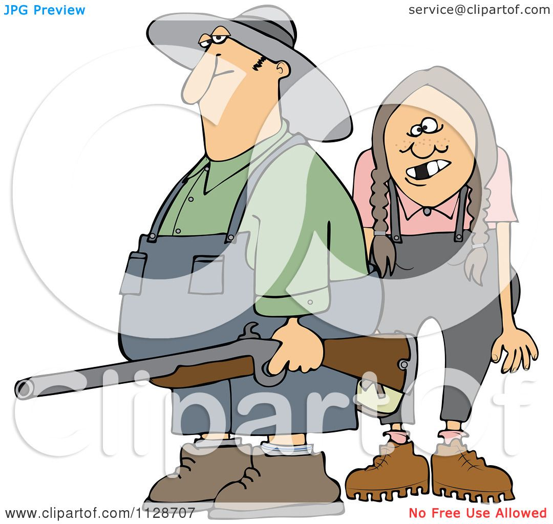 cartoon of a redneck hillbilly man and woman with a redneck clip art free Free Old Grumpy
