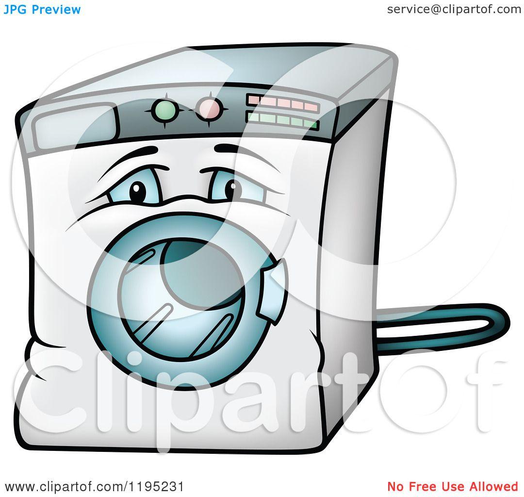 cartoon of a sad front loader washing machine royalty Tattoo Machine Clip Art Crossed Tattoo Machine Silhouette