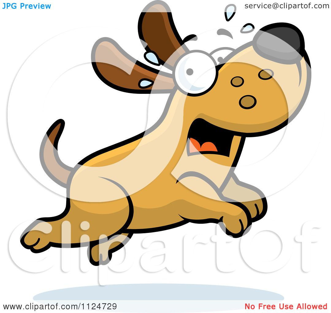 Cartoon Of A Scared Dog Running - Royalty Free Vector Clipart by Cory ...