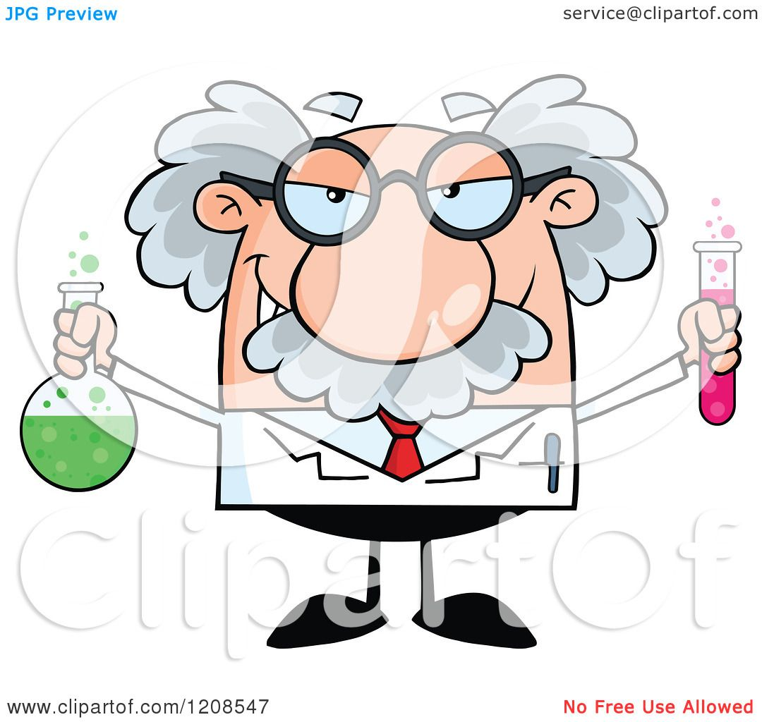 clipart science tube cartoon clip professor vector holding scientist toon mad flask royalty borders hit illustration clipartpanda animated law copyright