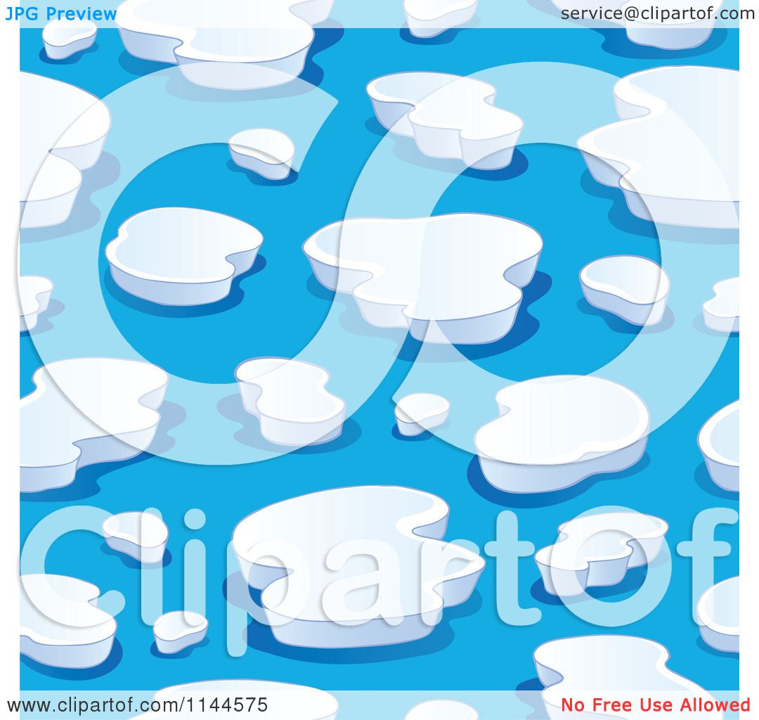 Cartoon of a seamless iceberg background pattern royalty for Clipart iceberg