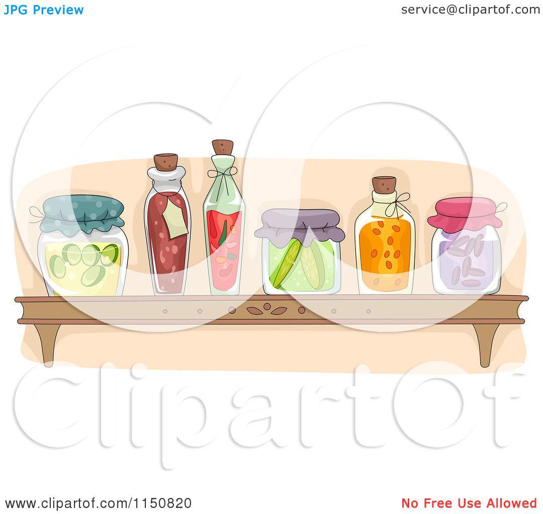 Cartoon of a Shelf of ...Clip Art For Food Pantry