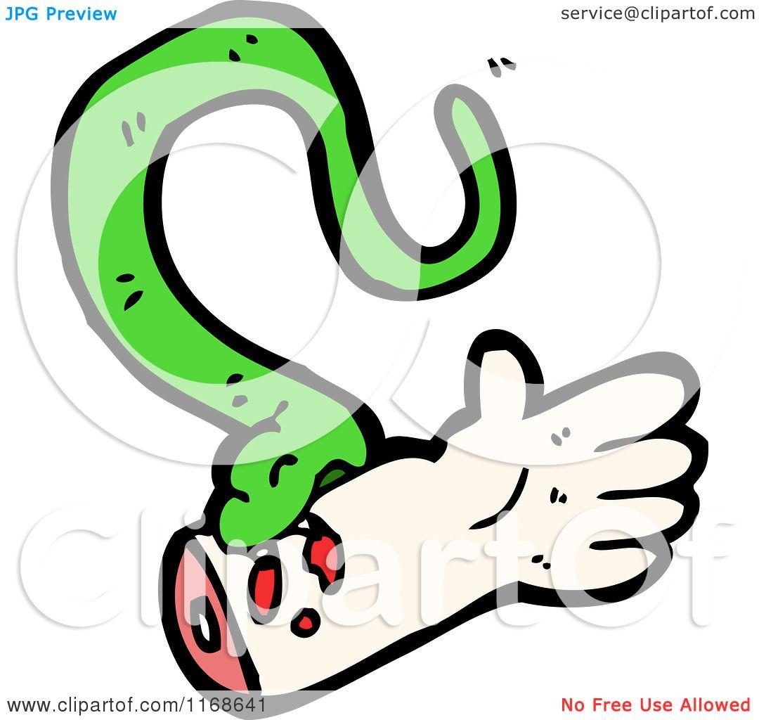 Cartoon Of A Snake Biting A Hand