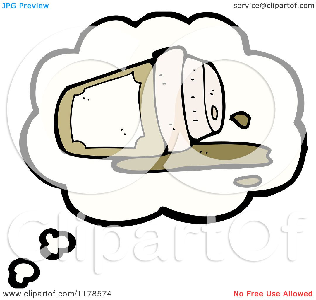 Cartoon Of A Spilled Styrofoam Coffee Cup In A