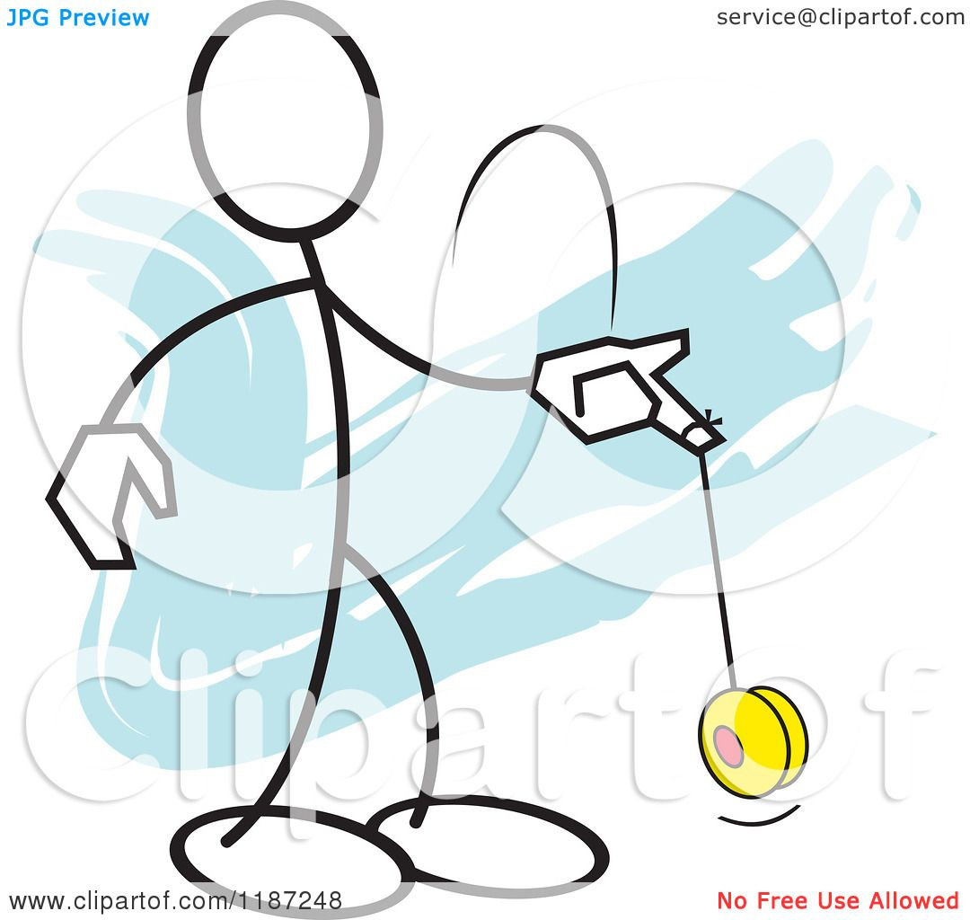 Yo Yo Clipart Man playing with a yo yo