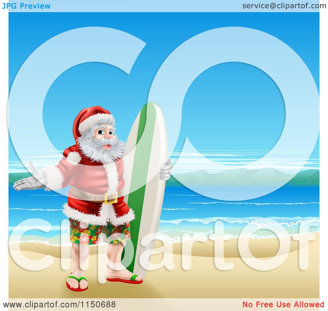free clipart santa on the beach - photo #14