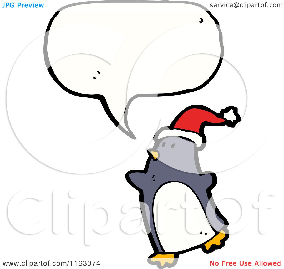 Cartoon Christmas Penguins Cartoon of a talking christmas