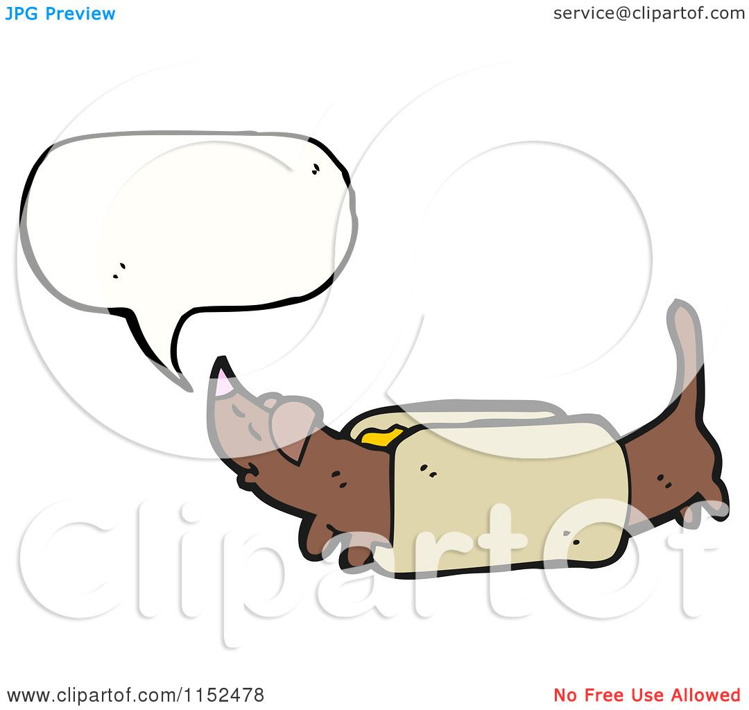 Cartoon of a Talking Dachshund Dog - Royalty Free Vector Illustration