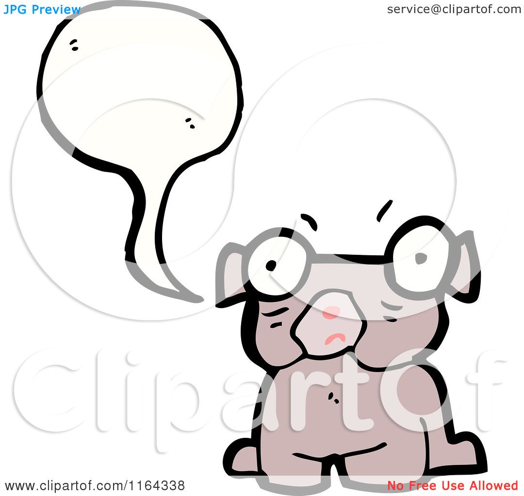 cartoon of a talking pug dog royalty free vector illustration by