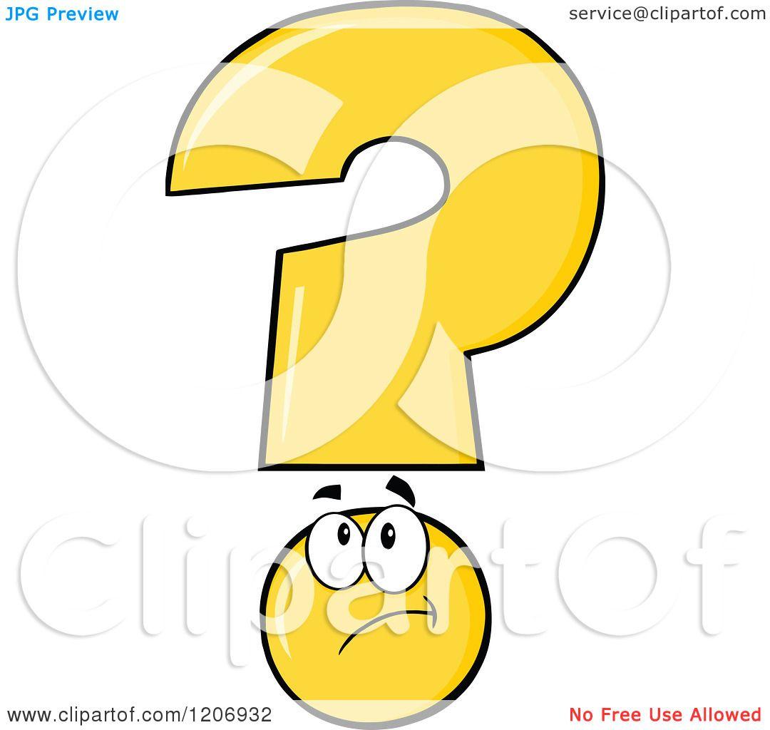 Yellow Question Mark Cartoon Clipart Vector Illustration
