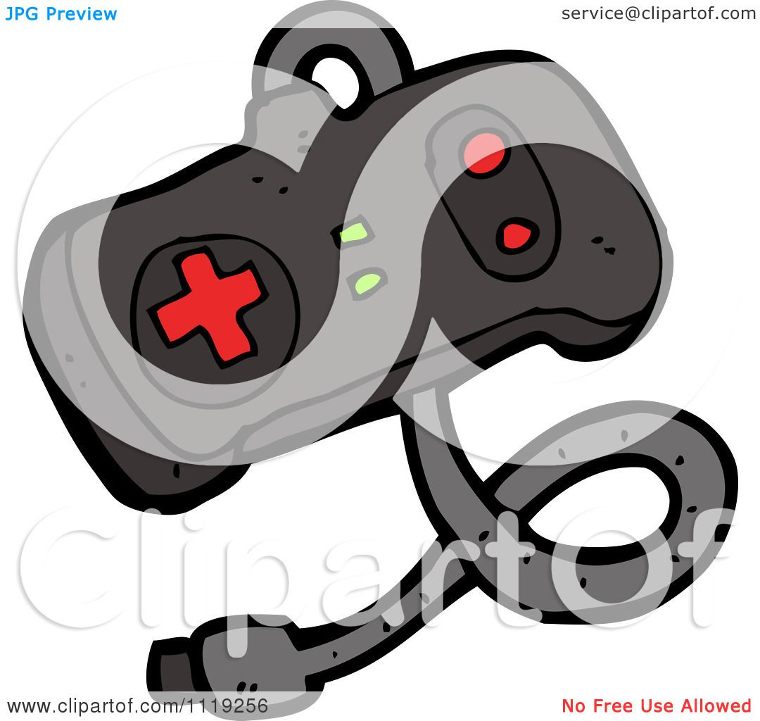 Cartoon Of A Video Game Controller - Royalty Free Vector Clipart ...