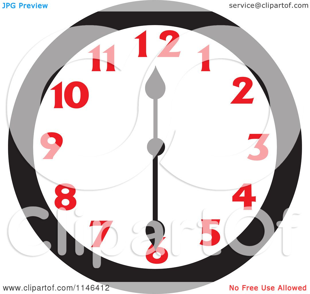 Wall clock coloring pages