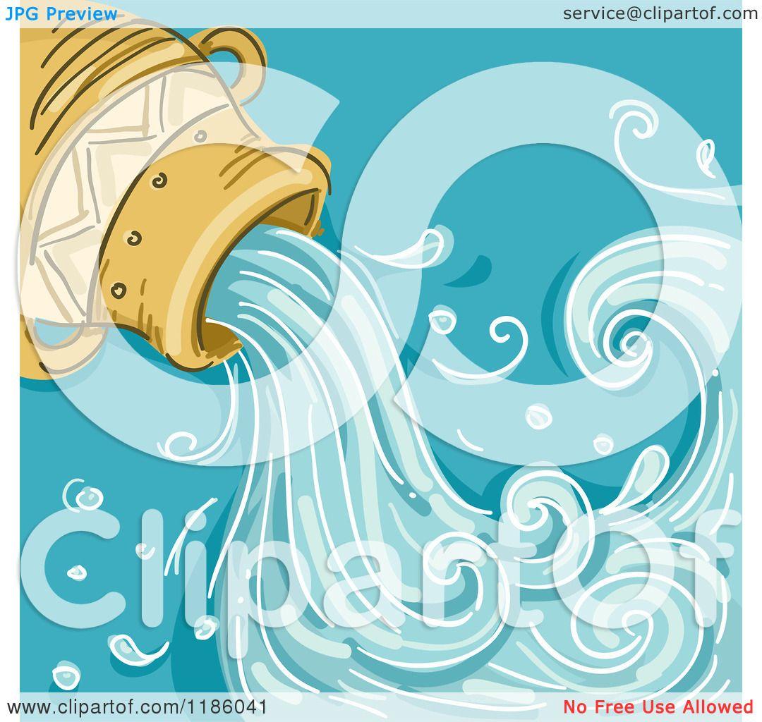 Cartoon Of A Water Jar Aquarius Horoscope Zodiac