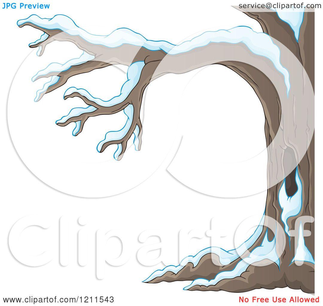 Winter Tree Cartoon Cartoon of a Winter Tree
