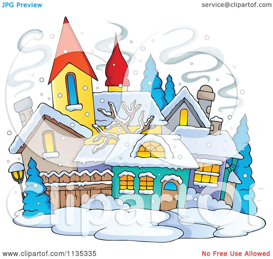 school in winter clipart - photo #15