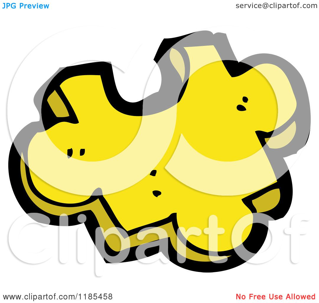 Cartoon Of A Yellow Puzzle Piece