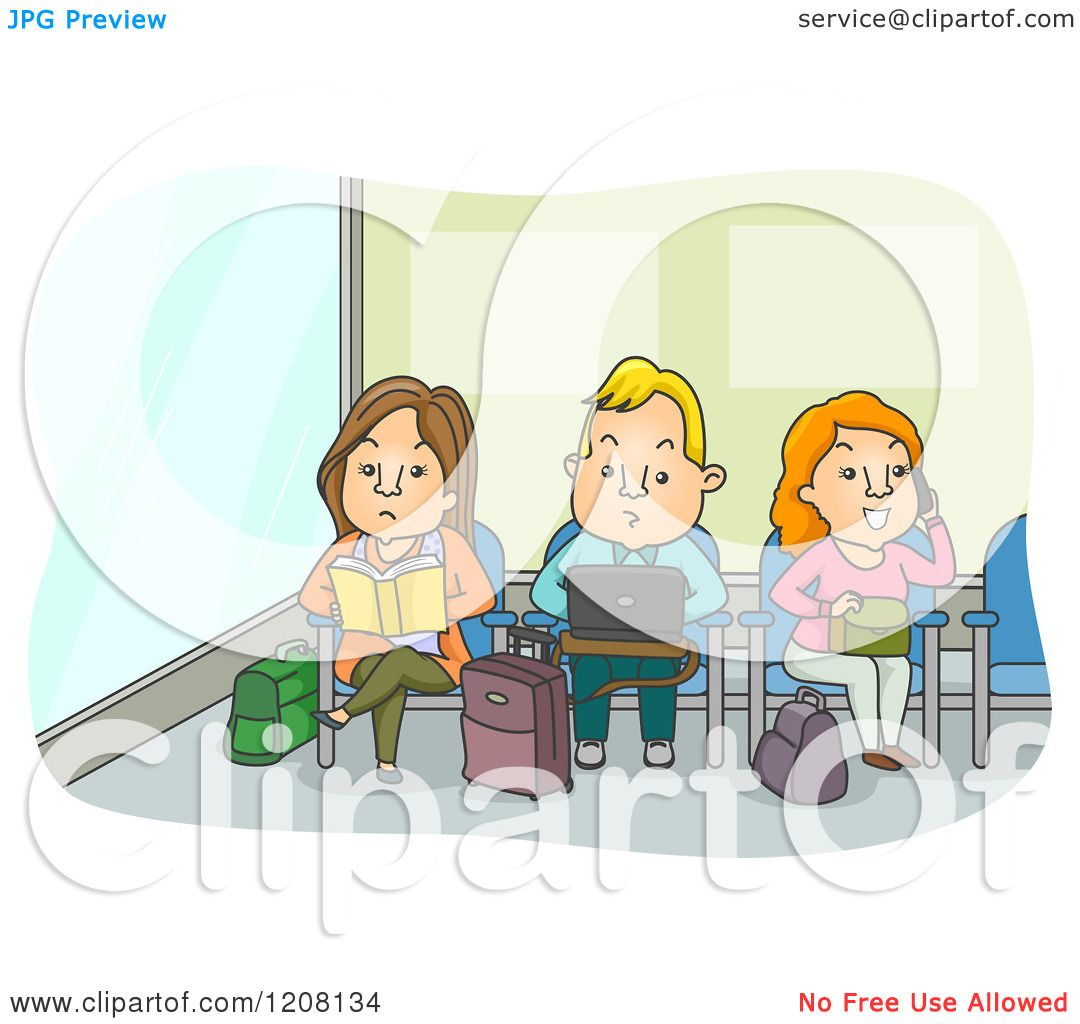 Cartoon of Adults Working and Reading