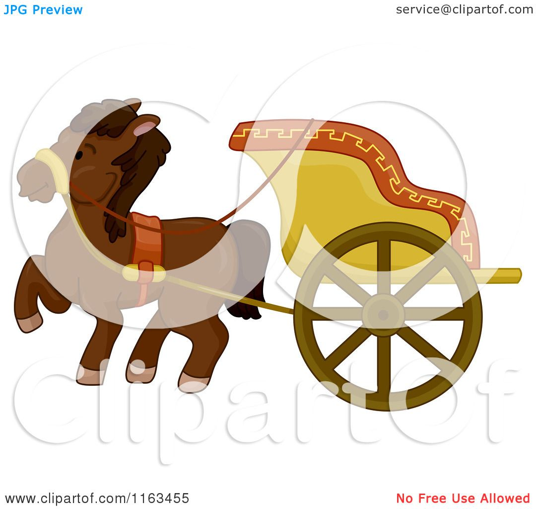 Horse Carriage Cartoon Cartoon of an Ancient Horse