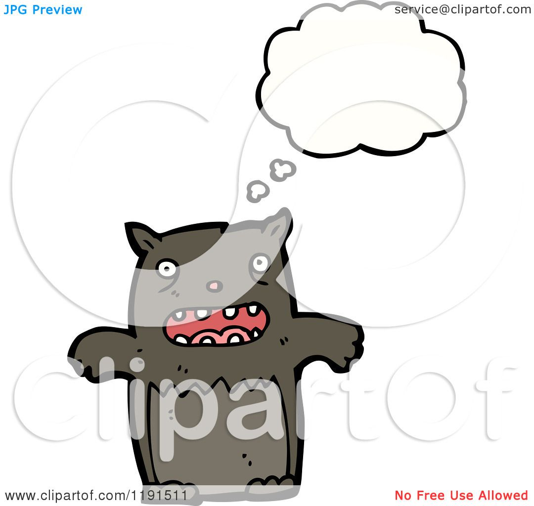 Cartoon of an Animal Thinking - Royalty Free Vector ...